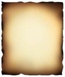 Gebrand document Royalty-vrije Stock Foto's