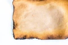 Gebrand document stock afbeeldingen