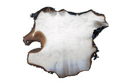 Gebrand document in onregelmatige vorm stock afbeeldingen