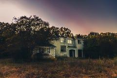 Gebrand Huis Stock Foto