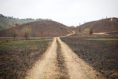 Gebrand land stock afbeeldingen