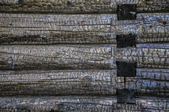 Gebrand logboek houten huis Royalty-vrije Stock Afbeelding