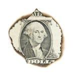 Gebrand portret van Washington. Stock Afbeeldingen