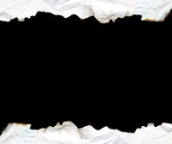Gebrand randdocument met ruimte voor tekst royalty-vrije stock foto