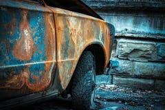 Gebrande auto Stock Foto's