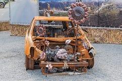 Gebrande auto Royalty-vrije Stock Foto's