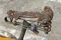 Gebrande fiets Stock Afbeeldingen