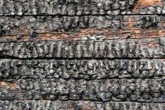 Gebrande houten muur Stock Foto