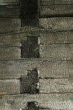 Gebrande houten textuur Stock Foto