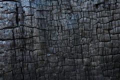 Gebrande houten textuur Stock Afbeelding