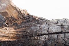 Gebrande houten textuur stock foto's