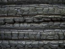 Gebrande muur Stock Foto