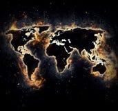 Gebrande wereld Vector Illustratie