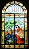 Gebrandschilderd glas Stock Foto