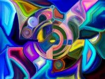 Gebrandschilderd glas abstract patroon Royalty-vrije Stock Afbeelding