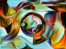 Gebrandschilderd glas abstract patroon Royalty-vrije Stock Afbeeldingen