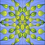 Gebrandschilderd glas - Berk Stock Afbeelding