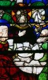 Gebrandschilderd glas in de Kathedraal van Rouen - Jesus bij het Laatste Avondmaal Royalty-vrije Stock Foto's
