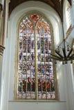 Gebrandschilderd glas in de kerk. Royalty-vrije Stock Fotografie