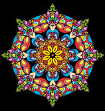 Gebrandschilderd glas in de vorm van een bloem Stock Fotografie