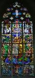 Gebrandschilderd glas - Doopsel van Jesus door Heilige John Doopsgezind royalty-vrije illustratie
