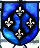 Gebrandschilderd glas fleur DE lys. Royalty-vrije Stock Fotografie