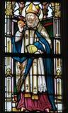 Gebrandschilderd glas - Heilige Augustine Stock Afbeelding