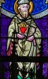 Gebrandschilderd glas - Heilige Augustine Stock Foto's