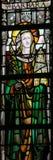 Gebrandschilderd glas - Heilige Barbara royalty-vrije stock afbeelding