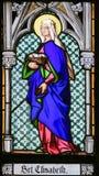 Gebrandschilderd glas - Heilige Elisabeth royalty-vrije stock foto