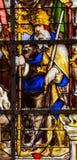 Gebrandschilderd glas - Heilige Felix royalty-vrije stock afbeelding