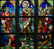 Gebrandschilderd glas - Heilige John Doopsgezind Royalty-vrije Stock Foto's