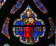 Gebrandschilderd glas - Heilige John Doopsgezind Royalty-vrije Stock Afbeeldingen