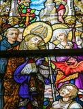 Gebrandschilderd glas - Heilige Livinus royalty-vrije stock foto's
