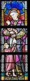 Gebrandschilderd glas - Heilige Vincent de Paul royalty-vrije stock fotografie