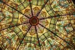 Gebrandschilderd glas, het Theater van de Dubbelpunt, Argentinië Stock Foto's