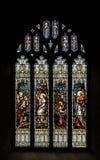 Gebrandschilderd glas A in Kerk van het Heilige Kruis Stock Foto