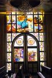 Gebrandschilderd glas in Koptisch Stock Foto's