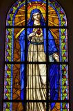 Gebrandschilderd glas Mary Royalty-vrije Stock Afbeelding