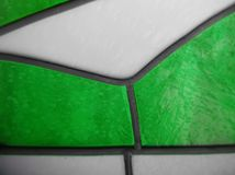 gebrandschilderd glas met kleuren witte en groene, geweven achtergrond Royalty-vrije Stock Fotografie
