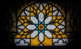 Gebrandschilderd glas, Palacio Valle, Cienfuegos, Cuba Stock Fotografie
