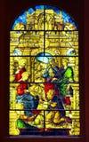 Gebrandschilderd glas in Toledo stock foto