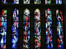 Gebrandschilderd glas van de kerk van de aankondiging royalty-vrije stock fotografie