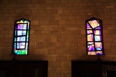 Gebrandschilderd glas van de kerk van de aankondiging royalty-vrije stock foto