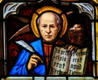 Gebrandschilderd glas van Eagle - de Heilige John de Evangelist Stock Afbeelding