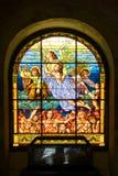 Gebrandschilderd glas van Kathedraal van San Juan Bautista, San Juan Stock Afbeelding