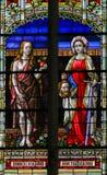 Gebrandschilderd glas van Vooravond en Judith royalty-vrije stock foto's