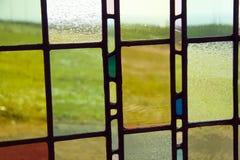 Gebrandschilderd glasachtergrond stock afbeelding