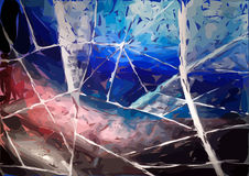 Gebrandschilderd glashemel die noodlot op dag lijken royalty-vrije illustratie
