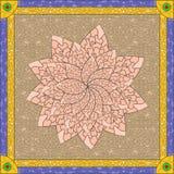 Gebrandschilderd glaslotusbloem Royalty-vrije Stock Afbeeldingen